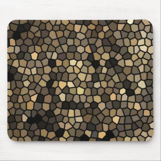 Black, beige and brown mosaics mouse pad