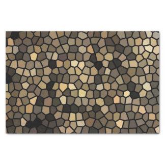 Black, beige and brown mosaics tissue paper