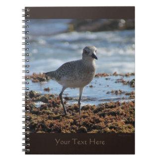 Black-bellied Plover Customizable Spiral Notebook