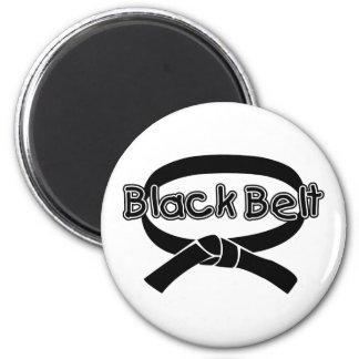 Black Belt 2 2 Inch Round Magnet