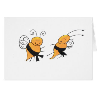 Black Belt Bees-card Card