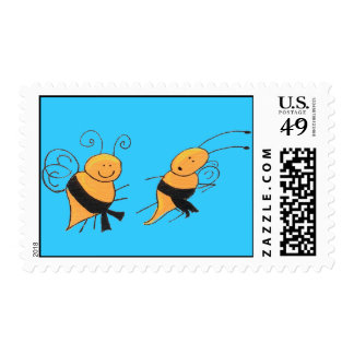Black Belt Bees-stamp Postage Stamps