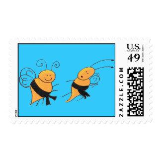 Black Belt Bees-stamp Stamp