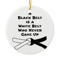 Black Belt Ceramic Ornament