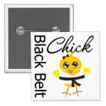 Black Belt Chick Button