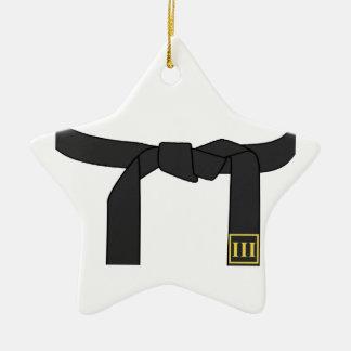 Black Belt Christmas Tree Ornament