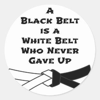 Black Belt Classic Round Sticker