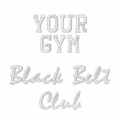 Black Belt Club Embroidered Jacket
