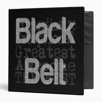 Black Belt Extraordinaire 3 Ring Binder