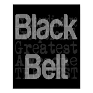 Black Belt Extraordinaire Poster