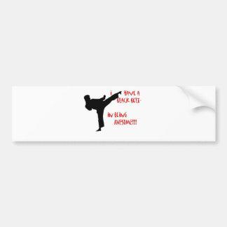 Black belt in awesome bumper sticker