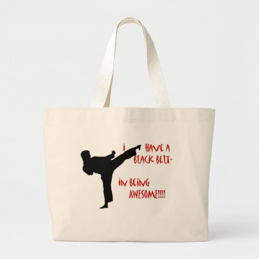 Black belt in awesome canvas bags