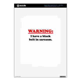 Black Belt In Sarcasm iPad 3 Decal