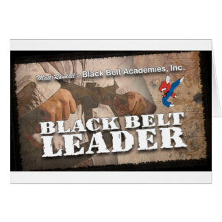 Black Belt Leader Card