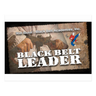 Black Belt Leader Postcard