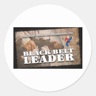 Black Belt Leader Round Sticker
