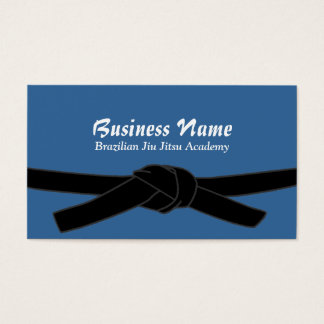Black Belt Master Brazilian Jiu-Jitsu Academy Business Card