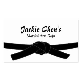 Black Belt Master Martial Arts Dojo Business Card
