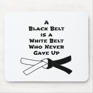 Black Belt Mouse Pad