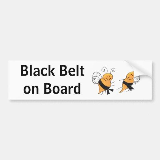 Black Belt on Board-bumper sticker