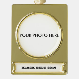 Black Belt Ornament to personalize with your Photo