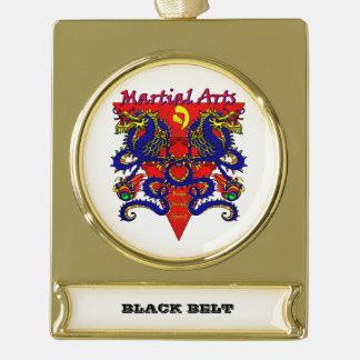 Black Belt Ornament withe Double Dragon Design