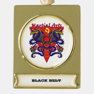 Black Belt Ornament withe Double Dragon Design