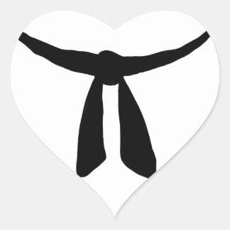 Black Belt Party Heart Sticker