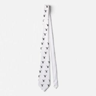 Black Belt Party Neck Tie