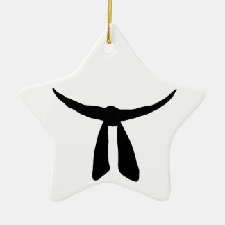 Black Belt Party Double-Sided Star Ceramic Christmas Ornament