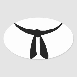Black Belt Party Oval Sticker