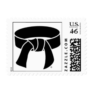 Black Belt Postage Stamps size small