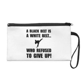 Black Belt Refusal Wristlet Clutches