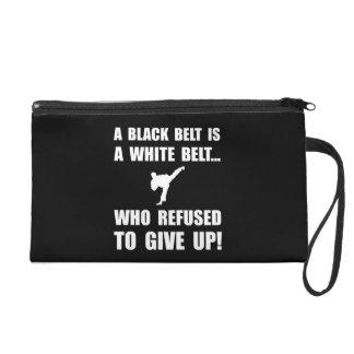 Black Belt Refusal Wristlet Purse