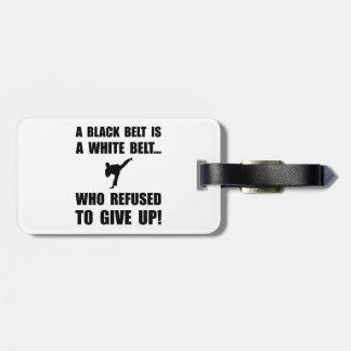 Black Belt Refusal Travel Bag Tag