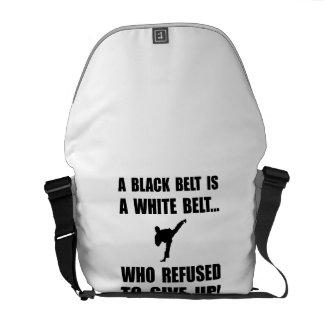 Black Belt Refusal Messenger Bags