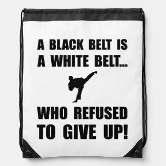Black Belt Refusal Cinch Bags