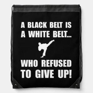 Black Belt Refusal Backpacks