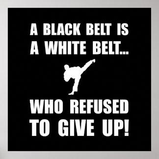 Black Belt Refusal Poster