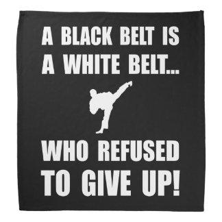 Black Belt Refusal Bandana