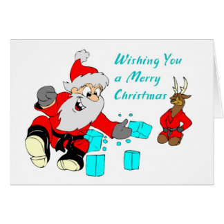 Black Belt Santa Martial Arts Christmas Cards