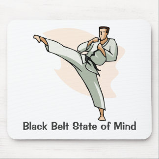 Black Belt State of Mind Mousepad, style 2 Mouse Pad
