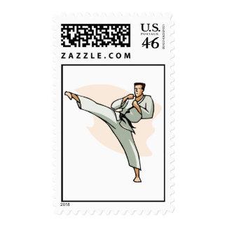Black Belt State of Mind Postage Stamps style 3