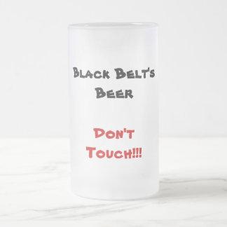 Black Belt's Beer Frosted Glass Beer Mug