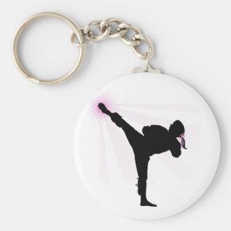 Black Belts Wear Pink Too! Keychain