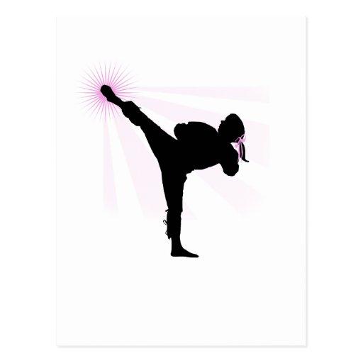 Black Belts Wear Pink Too! Post Cards