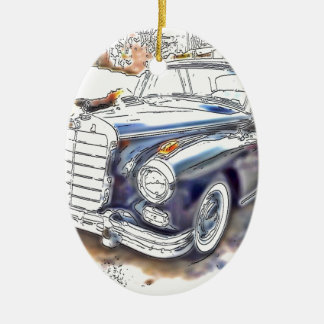 Black Benz Ceramic Ornament