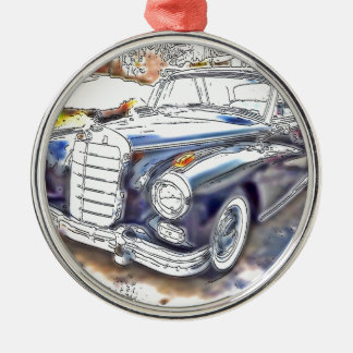 Black Benz Metal Ornament