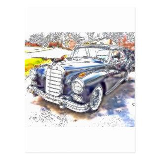 Black Benz Postcard