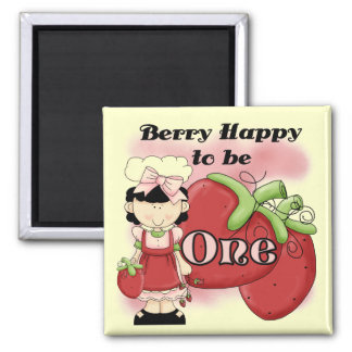 Black Berry 1st Birthday T-shirts and Gifts 2 Inch Square Magnet